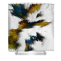 Shower Curtain featuring the digital art Sculptural Series Digital Painting 612.102310extrusion by Kris Haas