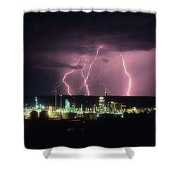 Exxon Lightning Shower Curtain