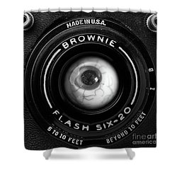 Shower Curtain featuring the photograph Eye Am A Camera Surreal Photography by Edward Fielding