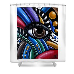 Eye Am - Abstract Eye Art Shower Curtain