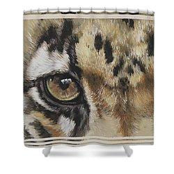 Clouded Leopard Gaze Shower Curtain