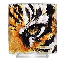 Eye-catching Sumatran Tiger Shower Curtain by Barbara Keith