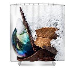 Eye Dk Shower Curtain by Alana Thrower
