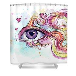 Eye Fish Surreal Betta Shower Curtain by Olga Shvartsur