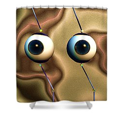 Eye Gestures Shower Curtain by Richard Rizzo