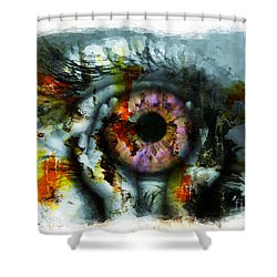 Eye In Hands 001 Shower Curtain
