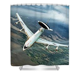 Eye In The Sky Shower Curtain by Peter Chilelli