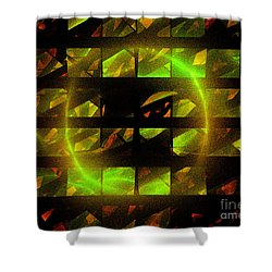 Shower Curtain featuring the digital art Eye In The Window by Victoria Harrington