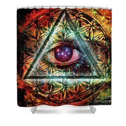 Eye Shower Curtain by Mynzah