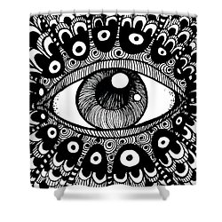 Eye Of March Shower Curtain by Nada Meeks