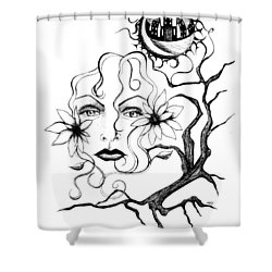 Eye Of The Beholder Shower Curtain by Shawna Rowe