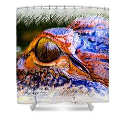 Eye Of The Gator Shower Curtain