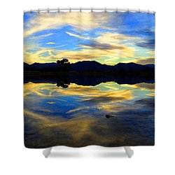 Eye Of The Mountain Shower Curtain by Eric Dee