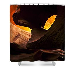 Eye Of The Needle Shower Curtain by Mike  Dawson