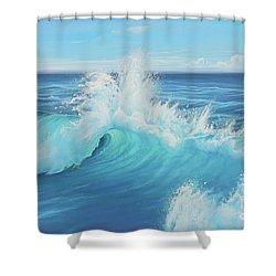Eye Of The Ocean Shower Curtain by Joe Mandrick
