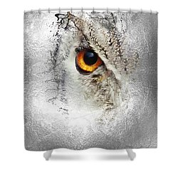 Shower Curtain featuring the photograph Eye Of The Owl 1 by Fran Riley