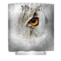 Shower Curtain featuring the photograph Eye Of The Owl 2 by Fran Riley
