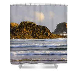 Eye Of The Storm Shower Curtain by Mike  Dawson