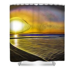 Shower Curtain featuring the photograph Eye Of The Sun by Scott Carruthers