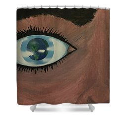 Eye Of The World Shower Curtain