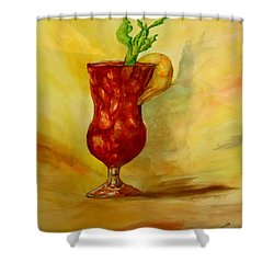 Eye Opener Shower Curtain by Jacquie King