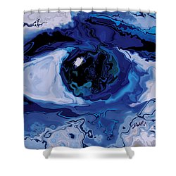 Shower Curtain featuring the digital art Eye by Rabi Khan