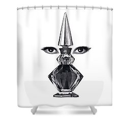Shower Curtain featuring the digital art Eye See You by ReInVintaged