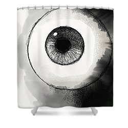 Eyeball Shower Curtain by Antonio Romero