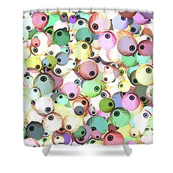Shower Curtain featuring the digital art Eyeballs by Methune Hively