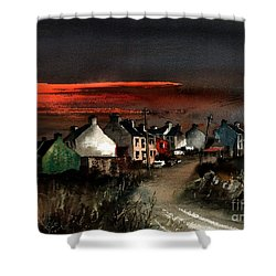 Cork Beara Eyeries Sunset Beara Shower Curtain
