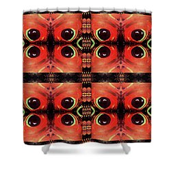 Shower Curtain featuring the painting Eyes 8 Four Square by Michelle Audas