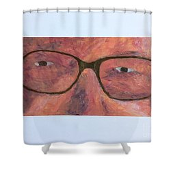 Shower Curtain featuring the painting Eyes by Donald J Ryker III