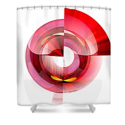 Eyes In Tunnel Shower Curtain by Thibault Toussaint