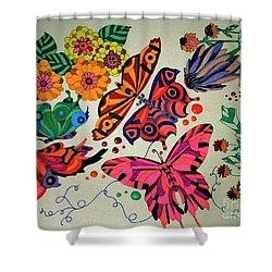 Eyes Of The Butterflies Shower Curtain