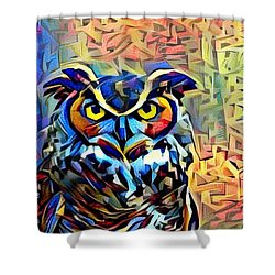 Shower Curtain featuring the photograph Eyes Of Wisdom by Geri Glavis