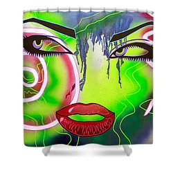 Eyes That Could Kill Shower Curtain by Bobby Zeik