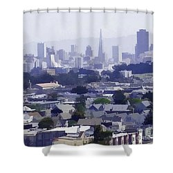 Looking East Toward San Francisco Shower Curtain