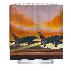 F-100d's Missouri Ang At Dusk Shower Curtain