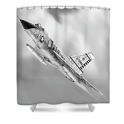 F-106a Drawing Shower Curtain