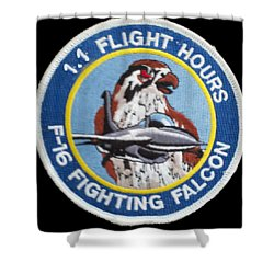 F-16 Ride Patch Shower Curtain