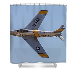 F-86 Jolley Roger Shower Curtain