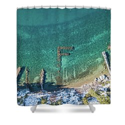 F Marks The Spot Shower Curtain