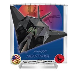 F117a Nighthawk Shower Curtain