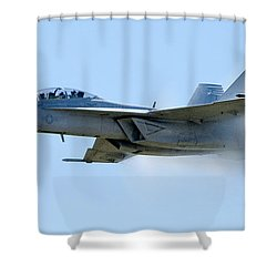 F18 - Barrier Shower Curtain by Greg Fortier