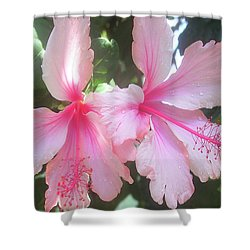 F4 Hibiscus Flowers Hawaii Shower Curtain by Donald k Hall