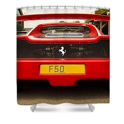 F50 Tail Shower Curtain