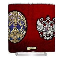Faberge Tsarevich Egg With Surprise Shower Curtain