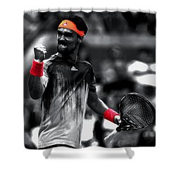 Fabio Fognini Shower Curtain by Brian Reaves