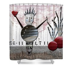 Fabio The God Of February Shower Curtain by Joan Ladendorf