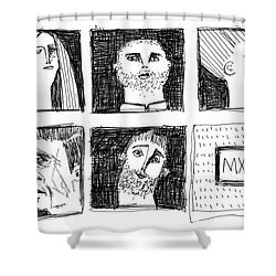 Fabulas No. 6  Shower Curtain